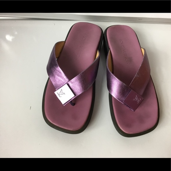 ee70bc040fff9 Louis Vuitton Shoes - 100%Authentic Louis Vuitton Purple Thong Flip Flop